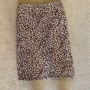J.Crew No.2 cheetah print pencil skirt